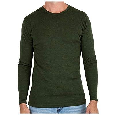 MERIWOOL Mens Base Layer - 100% Merino Wool Midweight Long Sleeve Thermal Shirt