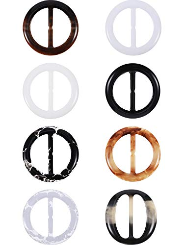 Plastic Round Elegant Tee Shirt Clips, Scarf Clips, 2 Inches, 8...