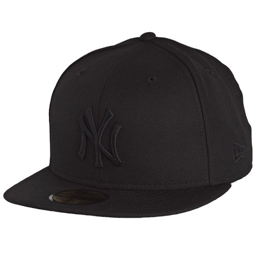 New Era Erwachsene Baseball Cap Mütze Mlb Basic NY Yankees 59Fifty Fitted, schwarz, 7 1/2