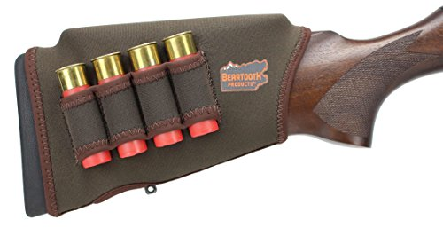 Beartooth Comb Raising Kit 2.0 - Neoprene Gun Stock Sleeve + (5) Hi-Density Foam Inserts - Shotgun Model (Brown)