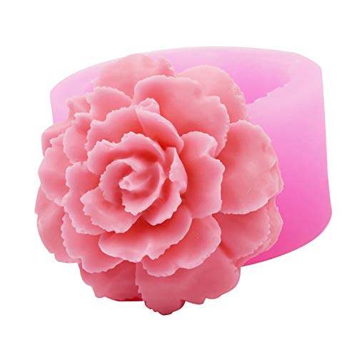 DZAY Silikonform Fondant Schokoladenformen,3D Rosen Blumen Silikonformen Kuchen Silikon Form Fondant Kuchen Dekorieren Backformen Tortedeko DIY Kuchen Süßigkeiten Kuchen Formen (Rose 01)