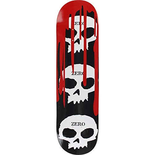 Zero Skateboards 3 Skull with Blood Deck Blk/Wht/Red 8.5