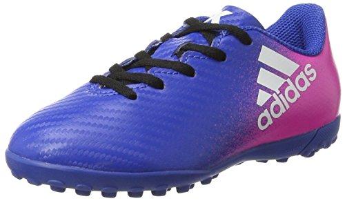 adidas X 16.4 TF, Botas de fútbol Unisex niños, Azul (Blue/FTWR White/Shock Pink), 36 2/3 EU
