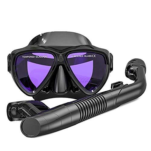 ZHUYUE Comfortabel duikmasker duikmasker snorkel diep duiken snorkel set uitrusting waterstop afvoerventiel vol gezicht snorkelmasker (kleur: wit, maat: M)