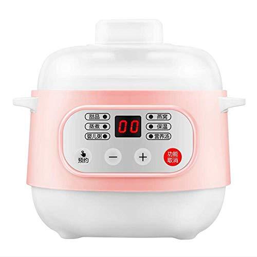 GAOZHEN Elektrischer Eintopf 1L 200W Keramik-Langsamkocher, Multi-Kocher mit Reservierungsfunktion und Anti-Trocken-Funktion Geeignet Ideal für kleine Haushalte