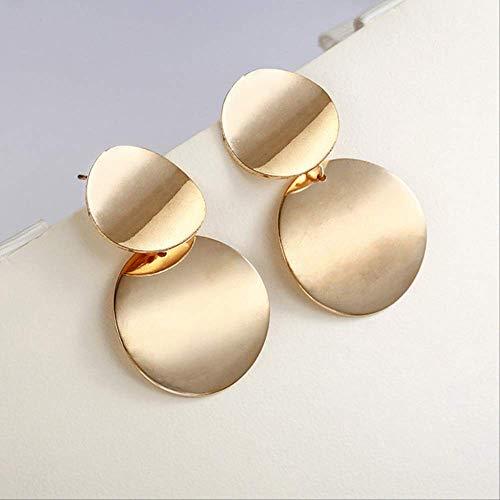 Oorbellen Holiday Goud Zilver Kleur Geometrische Verklaring Cirkel Oorbellen voor vrouwen Brincose0202gold