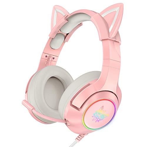 4. ONIKUMA Pink Gaming Headset