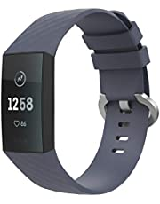 TiMOVO Fitbit Charge 3 armband, silicone vervangende horlogeband sportarmband band reserveband met gesp voor Fitbit Charge 3, 145 mm-210 mm (5,70 inch - 8,26 inch)