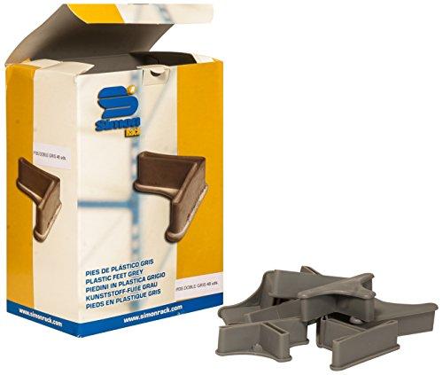 Simonrack 90130000013 - Caja de 48 pies de plástico para estantería, P/35 Doble, Color Gris