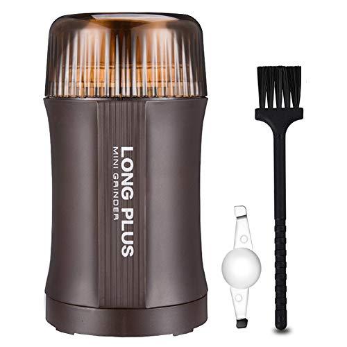 Koffiemolen Elektrisch 200W, 100g, Uitneembare kom met roestvrijstalen mesmolen voor het malen van koffiebonen Eenvoudig schoon te maken,Brass