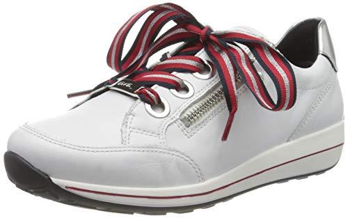 ara Damen Osaka Sneaker, Weiß Silber, 39 EU