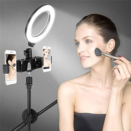 HaiMa - Kit de iluminación LED regulable, incluye soporte de 6500 K para cámara de fotos, vídeo