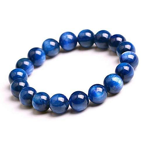 "Natural AAA Blue Kyanite Bracelet Stretch Bracelet | 7-7.5"" Length Blue Kyanite Bracelet Gemstone Bracelet | Unisex Bracelet | 6mm Round Shape Beads |Men Beaded Bracelet"