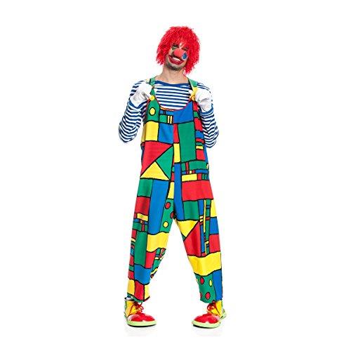 Kostümplanet Clown-Latzhose Herren Clown-Kostüm lustige Zirkus Kostüm Faschingskostüm Größe 56