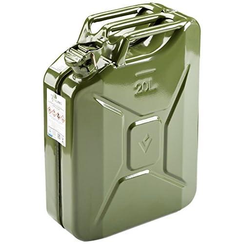 HP Tanica per Benzina stahlbl. 20L Certificazione TÜV GS + Un-pressato. Colore: Verde Oliva