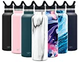 Simple Modern 20oz Straw Lid Ascent Water Bottle with Straw Lid - Stainless Steel Hydro Thermos Tumbler - Double Wall Vacuum Insulated Reusable Metal Leakproof