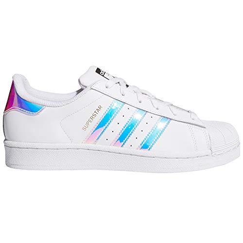 adidas Women's Superstar Foundation Trainers.g0 (38.5 EU, White/Iris/Shiny)