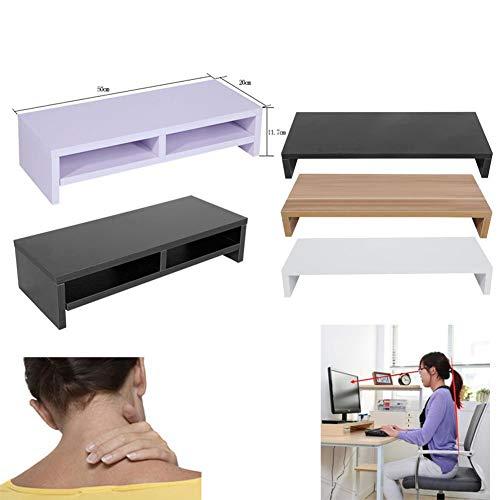 Yangsanjin Laptopstandaard, computermonitor, Riser Plinth, voor desktop, LCD-TV, monitor, laptop 2 niveaus, wit