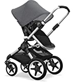 Bugaboo Fox Complete Full-Size Stroller - Fully-Loaded Foldable Stroller with Advanced Suspension and All-Terrain Wheels (Alu/Steel Blue)