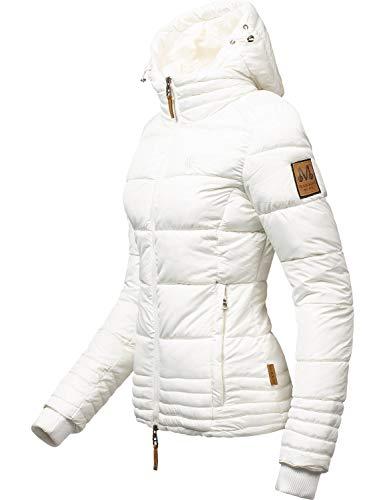 Marikoo Damen Winterjacke Stepp-Jacke Sole Weiß Gr. M