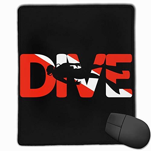 Scuba Dive Rectángulo Alfombrilla de Goma Antideslizante Mousepad Accesorios para computadora 18 x 22 CM