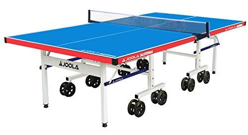 JOOLA Mesa de Ping Pong Aluterna – Mesa de Ping Pong Profesional para Exteriores Resistente a la Intemperie 6 mm de Superficie de Aluminio y plástico – Estructura Plegable