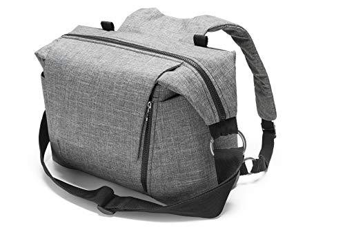 STOKKE® Wickeltasche - Windeltasche mit faltbarer Wickelunterlage - Farbe: Black Melange
