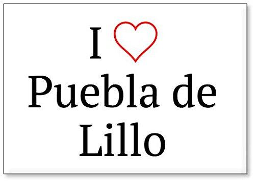 Mundus Souvenirs - Amo Puebla de Lillo, Imán para Nevera (diseño 2)