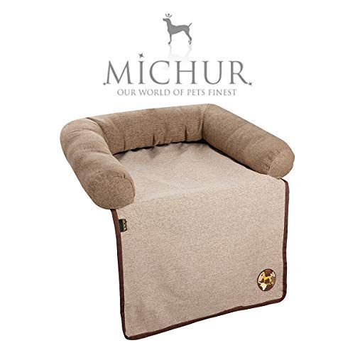 Michur Couch Bed Andy, washable Pet Sofa for Dogs and Cats in brown color, sofa pet bed, dog mat, sofa protection, dog bed, 45.27'' x 57.08'' x 6.29''