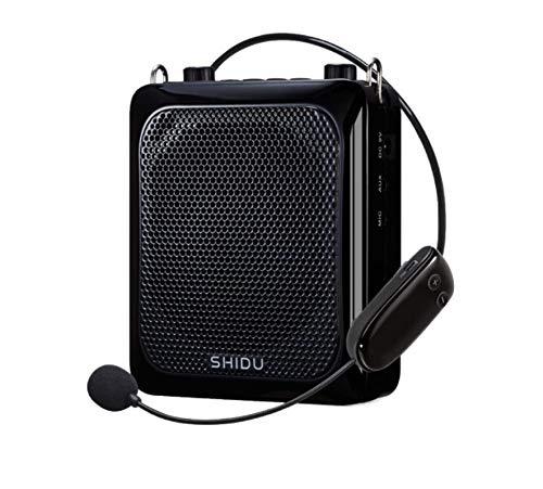 APROTII Amplificador de voz, 25 W 2000 mAh con auriculares de micrófono,Pa sistema Bluetooth Recargable Amplificación de voz para Profesores, Guía Turístico y más (Inalámbrico)