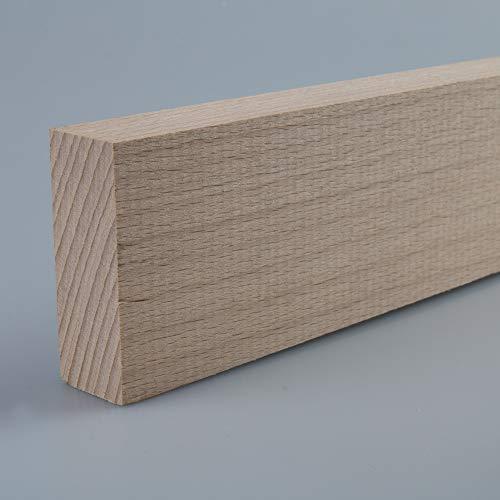 Rechteckleiste Bastelleiste Abschlussleiste aus unbehandeltem Buche-Massivholz 2100 x 20 x 55 mm
