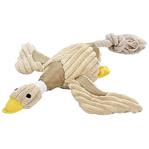 LDDZAU Stuffed Toy Funny Dog Squeaky Duck Toy Puppies Chew Toy Pet Squeak Plush Sound Toy Soft Dog Cat Play Interactive Toy Pet Supplies A
