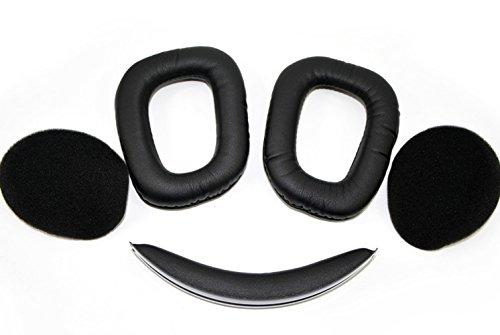 G930 Ohrpolster Stirnband Ersatz Ohrkissen Kompatibel mit Logitech G933 Artemis Spectrum Wireless Gaming-Headset. (Schwarz)