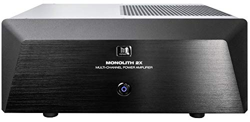 Monoprice Monolith Two-Channel Stereo Power Amplifier - Black with 2x200 Watt Per Channel, XLR Inputs, for Home Theater & Studio