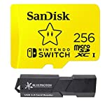 SanDisk 256GB MicroSDXC UHS-I Card for Nintendo Switch Bundle with USB 3.0 MicroSDXC Card Reader