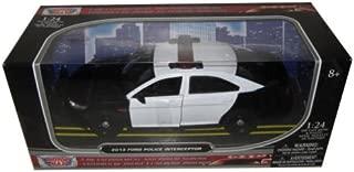 Ford 2013 Police Car Interceptor Unmarked Black/White 1/24 by Motormax 76925BK/W