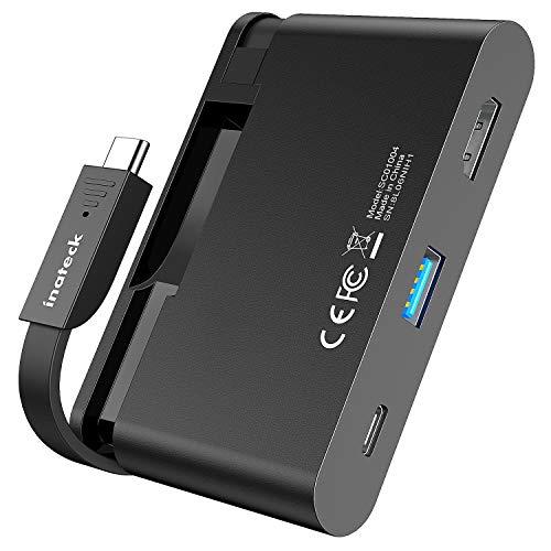 Inateck USB C Hub mit verstecktem Kabel, USB C Adapter mit 100 W Power Delivery Anschluss, 4k HDMI Anschluss und USB 3.0 Anschluss, SC01004