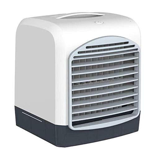 DFJU Mini condicionador de ar portátil de Mesa USB Pequeno, umidificador de refrigeração por Ventilador, refrigerador de ar com Tanque de água Gelada