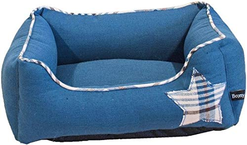 Boony Divan hondenmand Canvas 'Star' 50x45 cm Blauw