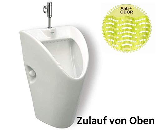 Urinal Zulauf Oben Weiß Modern Keramik Spülrand Geschlossen Pissoir ROCA CHIC