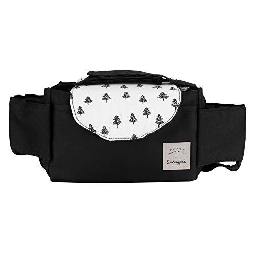 Bolsa de almacenamiento para cochecito de bebé, organizador universal para colgar tazas, accesorios con compartimentos internos móviles