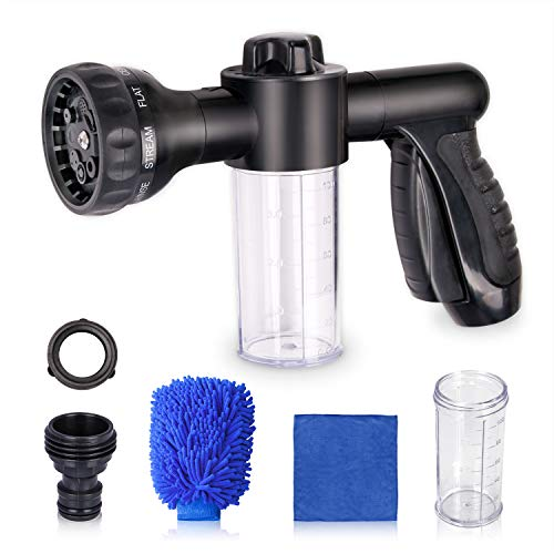 Tonsiki Foam Sprayer Set, Including 1PCS Car Wash Foam Sprayer, 2PCS 100cc Foam Bottle, 1PCS Washing Mitt and 1PCS Car Towel for Watering Plants, Lawn, Patio, Car Wash, Cleaning, Showering Pet