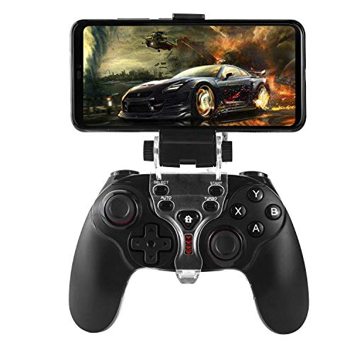 QCHEA PS3 Android Wireless Controller, Bluetooth Gamepad Controller Joystick con Soporte Ajustable for Android Smartphone PS3 Windows PC