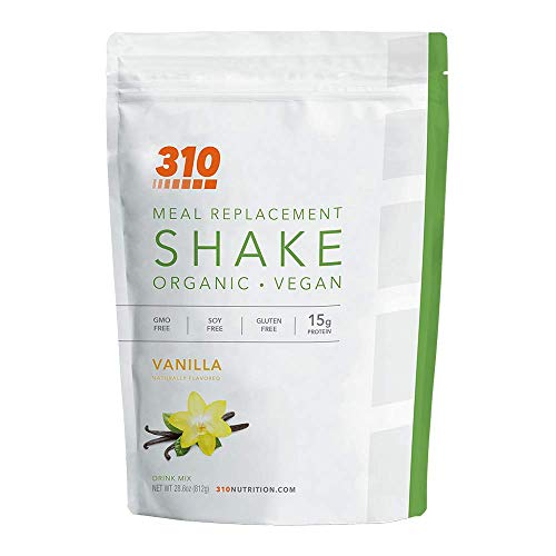 Vegan Organic Plant Protein Powder and Meal Replacement Shake - By 310 Nutrition - Gluten, Dairy and Soy Free - 0g of Sugar | Keto and Paleo Friendly… (Vanilla, 28 Servings)