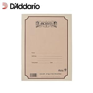 D'Addario B12S-48ST gebundenes Systemnotenbuch 48 Seiten