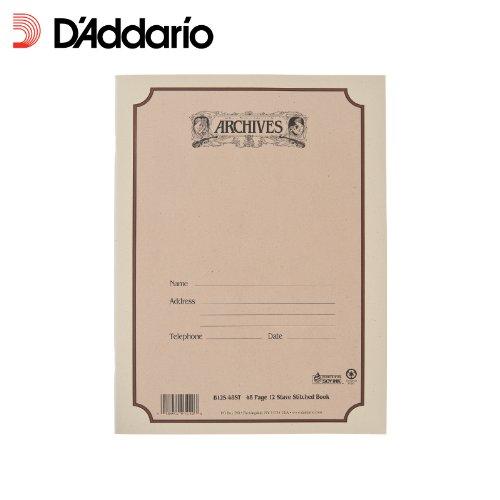 Cuaderno pentagramado Archives con encuadernación común, 12 pentagramas, 48 páginas.