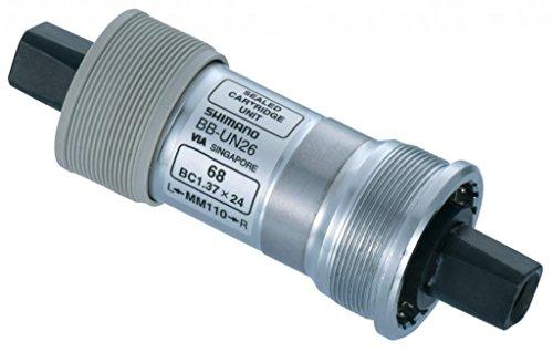 SHIMANO BB-UN26 Vierkant-Innenlager // BSA 73 mm, Variante:Silber