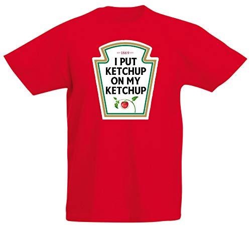 Floordrobe Clothing I Put Ketchup On My Ketchup T Shirt (Large) Red