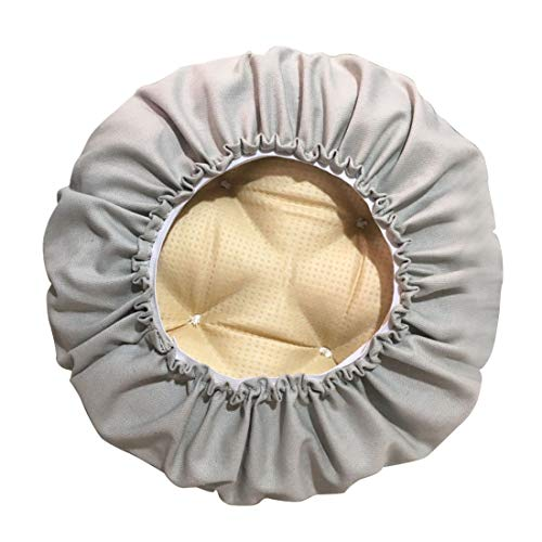TFlower - Copricuscino rotondo imbottito in cotone super morbido, per sgabello da bar, rotondo, cuscino per seduta 35 cm