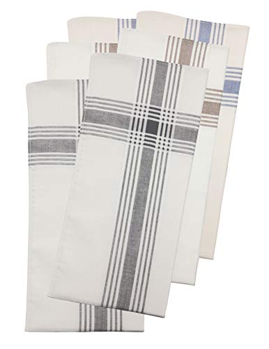 Van Heusen 6 pack Handkerchiefs (color woven)